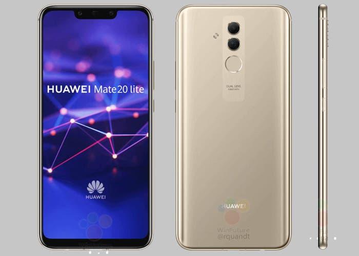 Huawei Mate 20 Lite: nuevas imágenes filtradas y primeras especificaciones