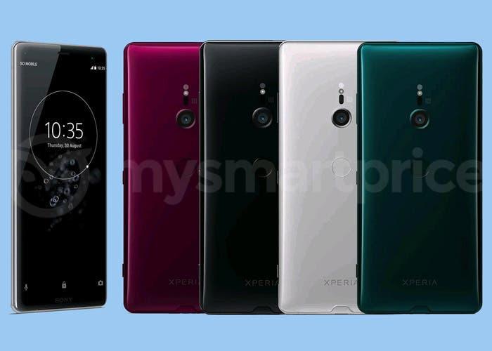 El Sony Xperia XZ3 se filtra en todas su variantes de color