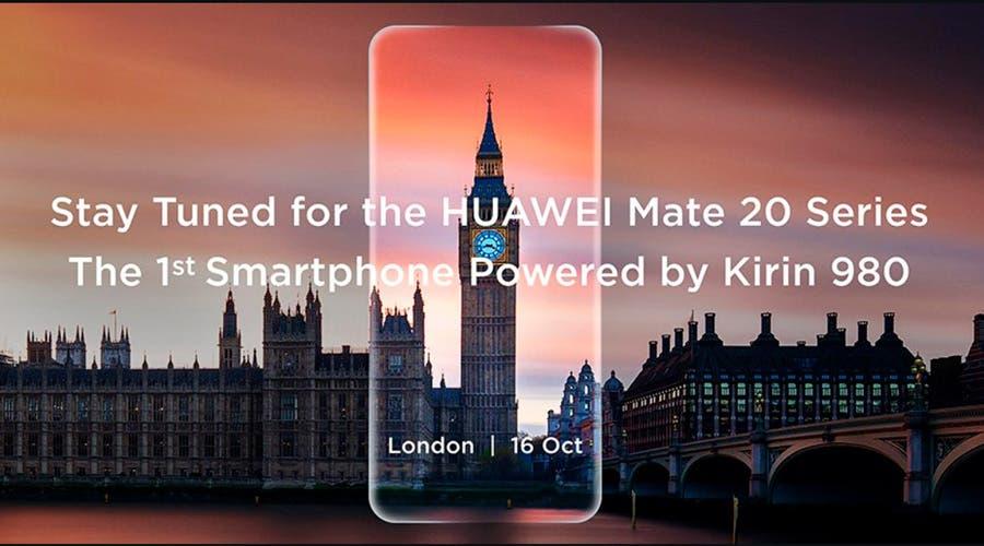 El Huawei Mate 20 será presentado a mediados de octubre en Londres