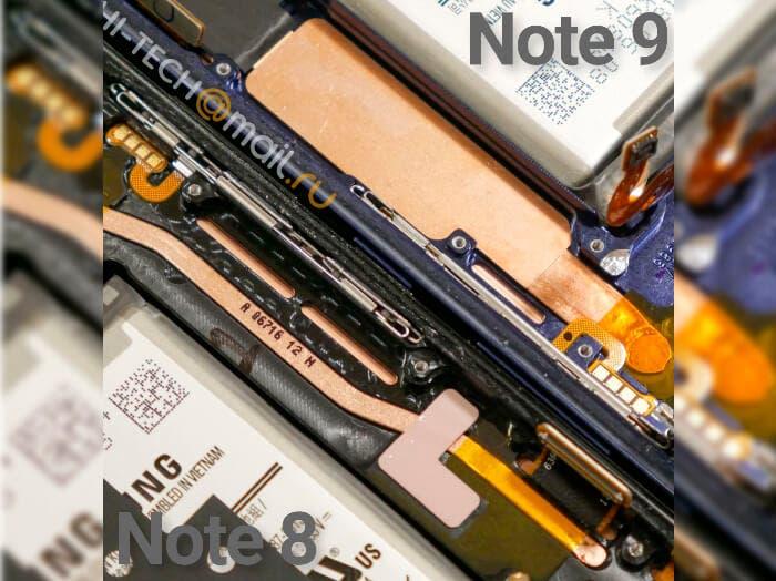 refrigeración líquida del Samsung Galaxy Note 9