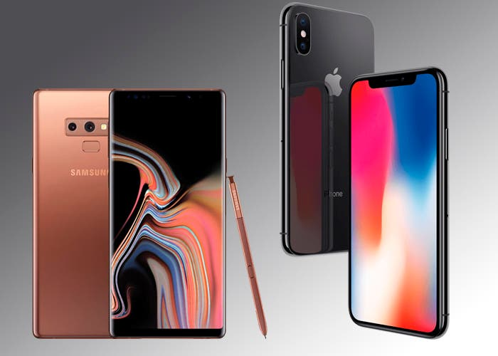 Samsung Galaxy Note 9 vs iPhone X: ¿el tamaño lo es todo?