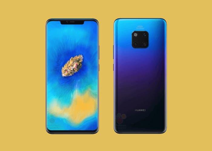 Huawei Mate 20 Pro: se filtran las primeras imágenes oficiales de sus tres versiones