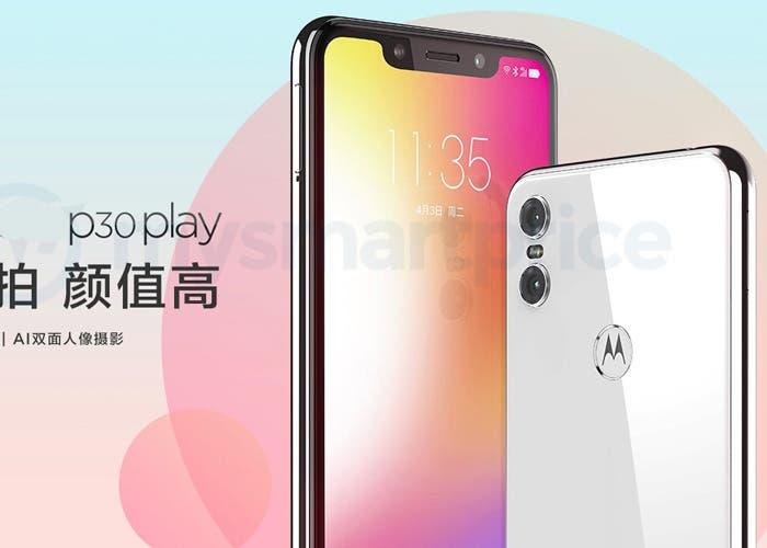 Motorola Moto P30 Play: aparecen nuevas imágenes en la web china de Motorola