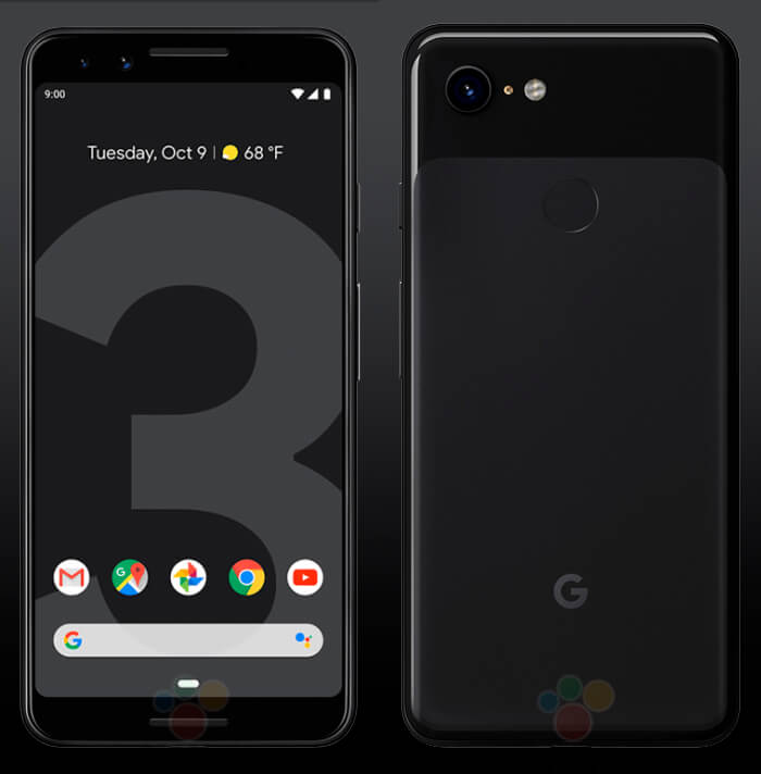 Google Pixel 3 render oficial