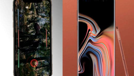 iPhone Xs Max vs Samsung Galaxy Note 9, una batalla entre gigantes