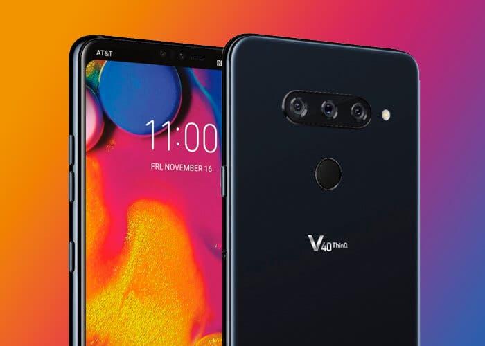El diseño final del LG V40 ThinQ se deja ver en un teaser oficial