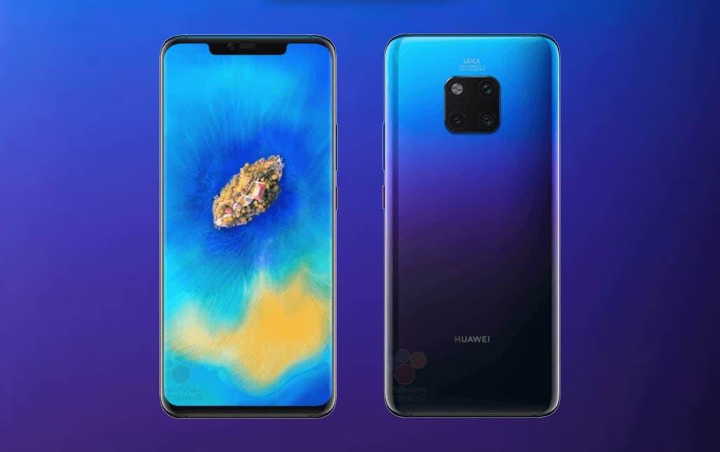 Se filtra el Huawei Mate 20 Pro en color azul en varias imágenes reales