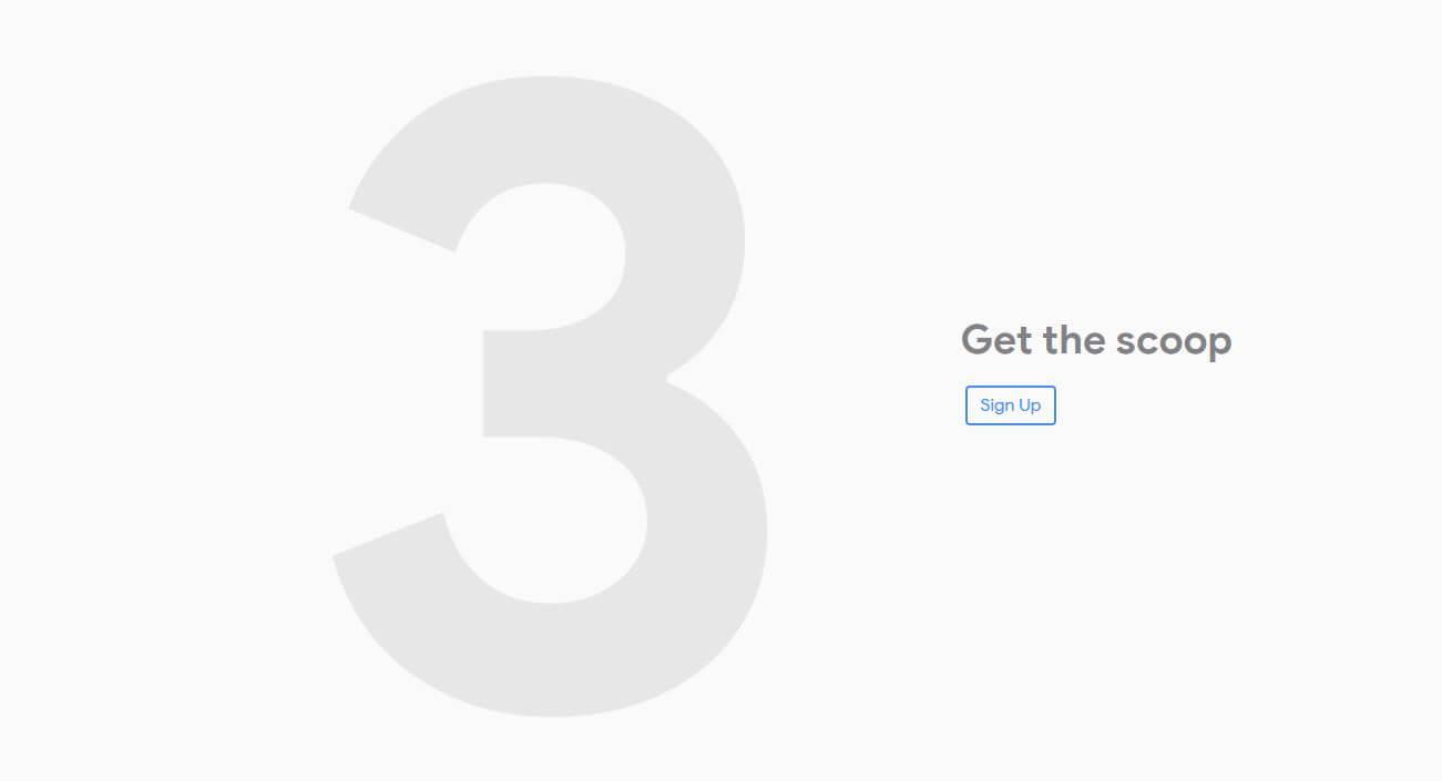 Primer teaser del Google Pixel 3