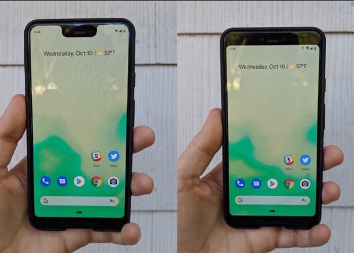 El Google Pixel 3 XL permite ocultar el notch reduciendo su pantalla útil