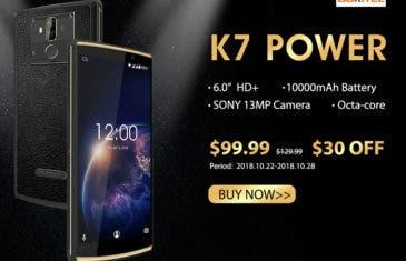 El OUKITEL K7 Power ya puede reservarse con un descuento increíble