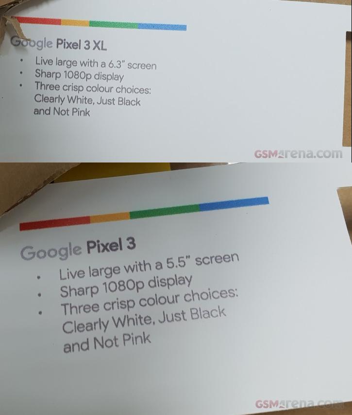 Caja Google Pixel 3 y Pixel 3 XL