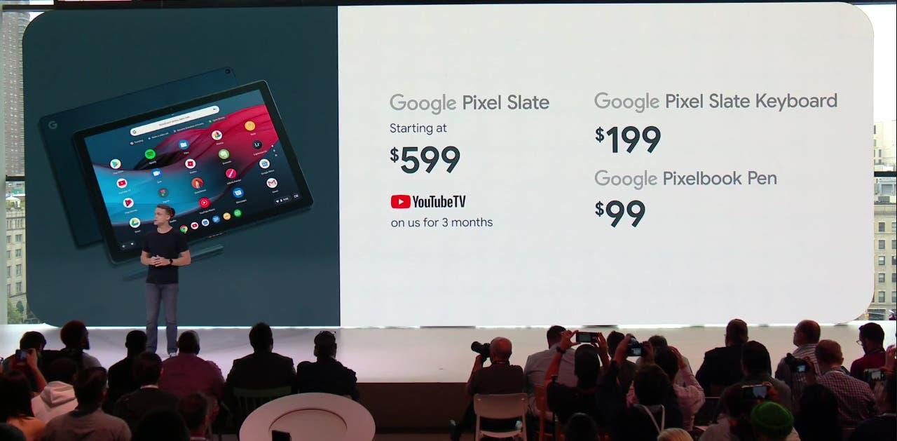 Google Pixel Slate precios