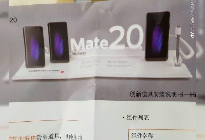 Nuevas imágenes confirman la llegada de un Huawei Mate 20 con stylus