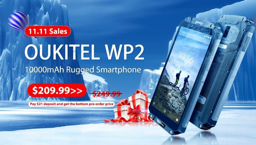 Ya puedes reservar el nuevo OUKITEL WP2 con descuento antes del 11.11