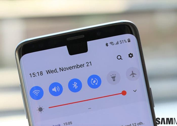 Samsung prueba el notch en los Galaxy S9 con la beta de Android 9 Pie
