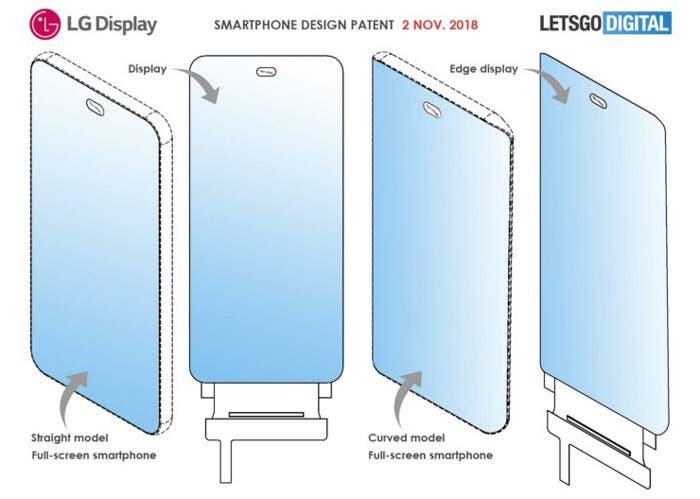 El LG G8 podría incluir la cámara en un agujero integrado en la pantalla