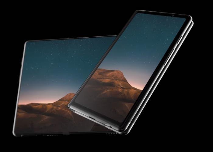 Así es el primer render del móvil plegable de Samsung