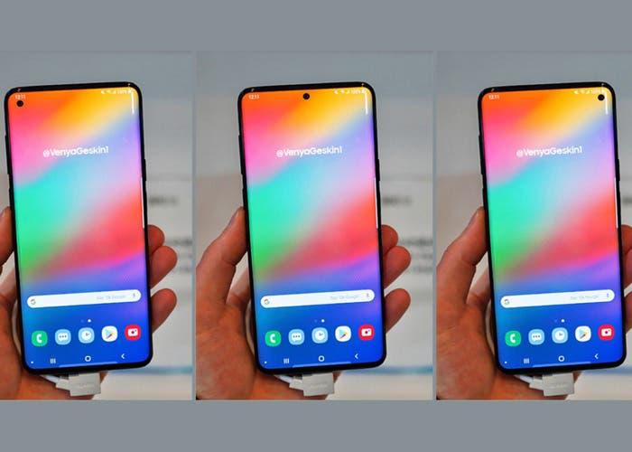 Así podría ser el Samsung Galaxy S10: pantalla Infinity O y lector de huellas en pantalla