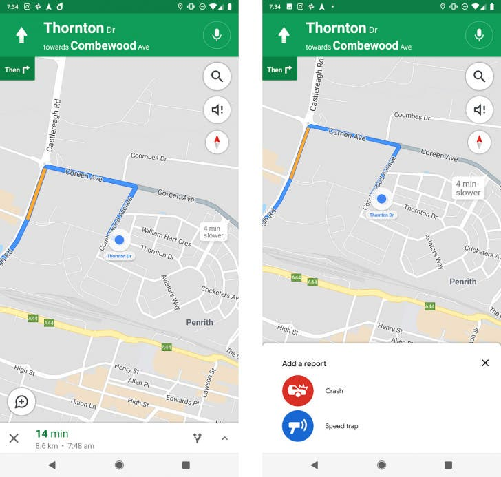 Google Maps te avisará de radares y retenciones por accidente
