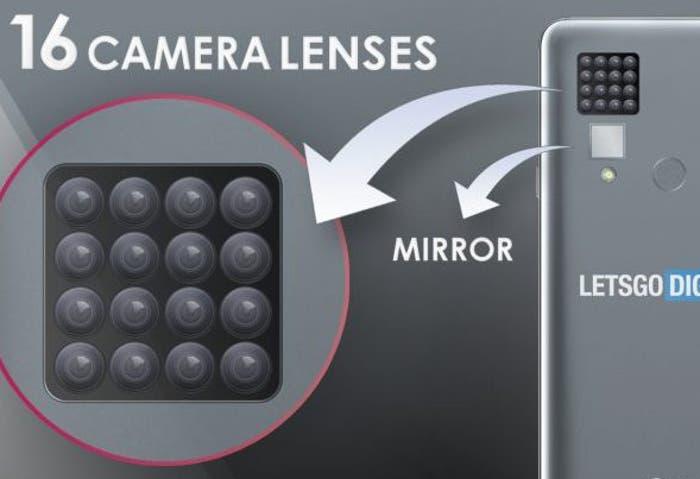 ¿Está pensando LG en lanzar un móvil con 16 cámaras? ¡Eso parece!