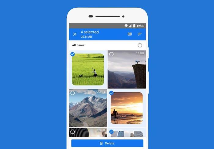 Otra aplicación más que puedes probar en modo oscuro: Files by Google