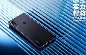 Lenovo Z5s: ¿el primer smartphone con 12 GB de RAM?