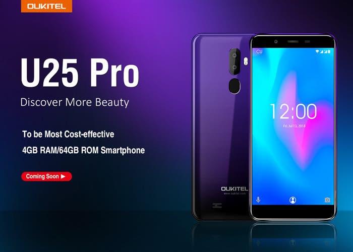 El nuevo OUKITEL U25 Pro llegará en diciembre con un diseño innovador