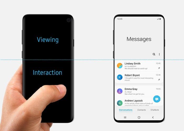 Samsung muestra el diseño del Galaxy S10 y luego elimina la imagen