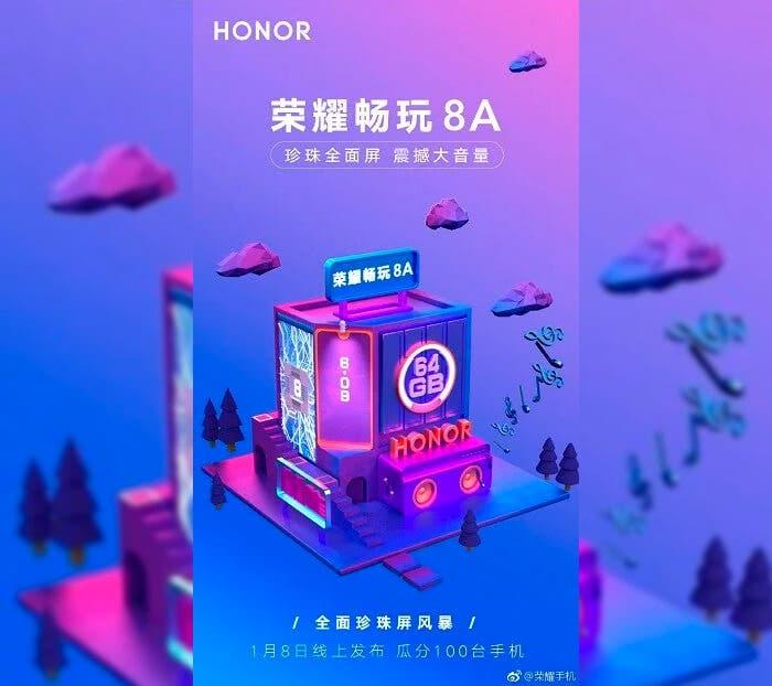 Presentación del Honor 8A