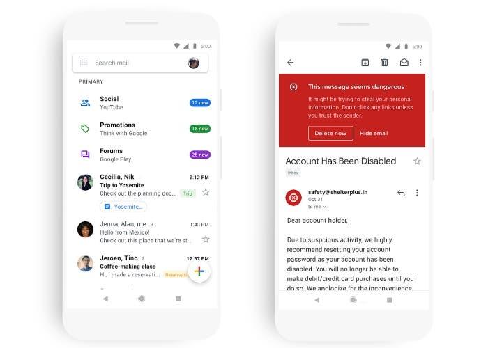 Gmail cambia su estética y añade nuevas funciones