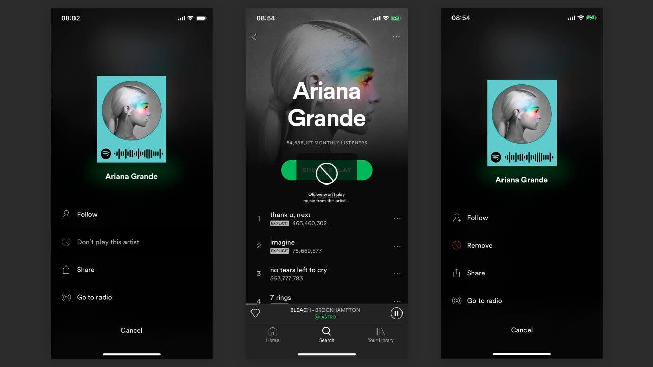 Spotify bloquear