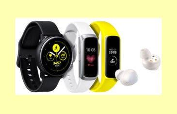 Accesorios del Samsung Galaxy S10: Galaxy Watch Active y Galaxy Fit