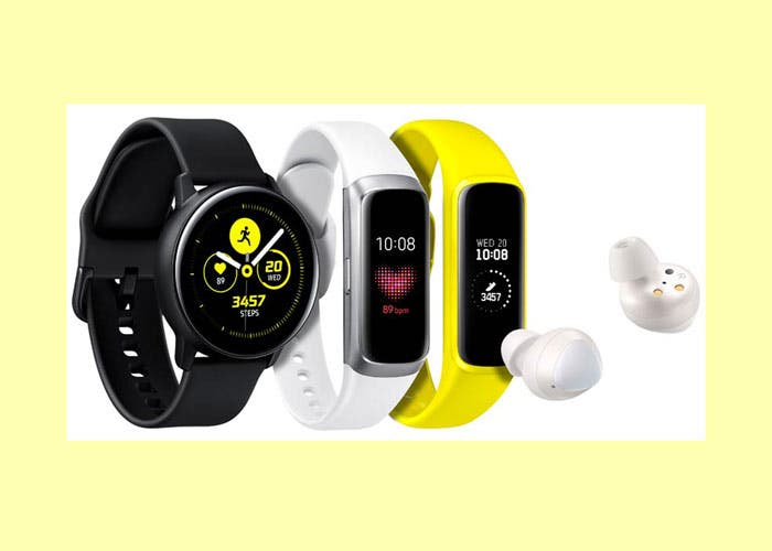 Accesorios del Samsung Galaxy S10: Galaxy Watch Active y Galaxy Fit
