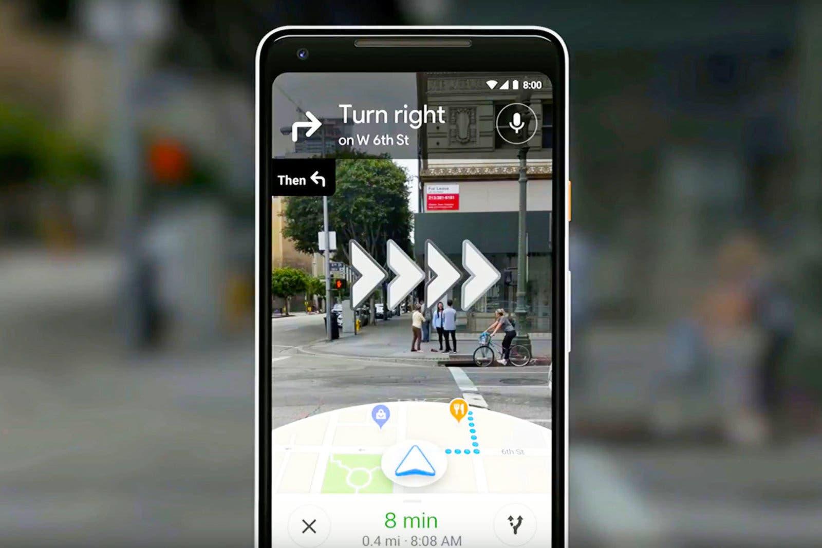 Google Maps empieza a desplegar su navegación a pie con realidad aumentada