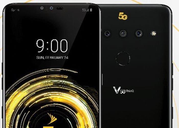 LG V50 ThinQ 5G: aparece el primer render del móvil 5G de LG