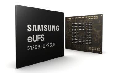 Samsung dobla la velocidad de almacenamiento con las memorias eUFS 3.0