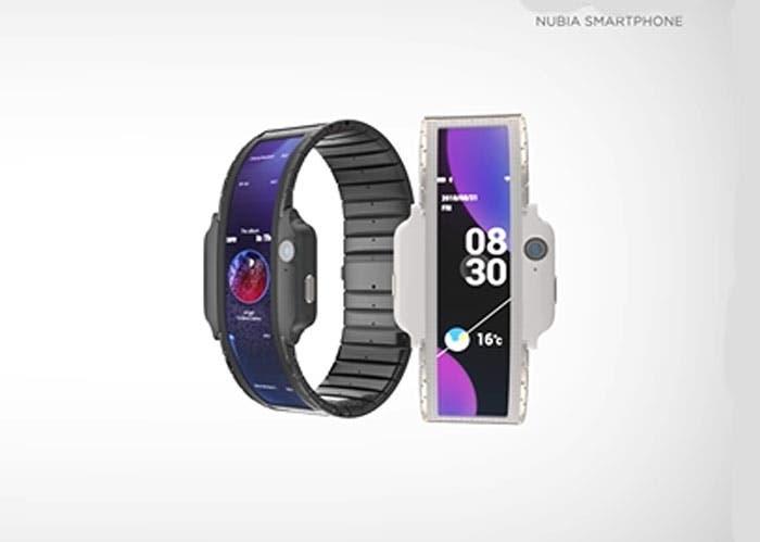 Nubia Alpha: el teléfono plegable que se convierte en pulsera llegará en el MWC