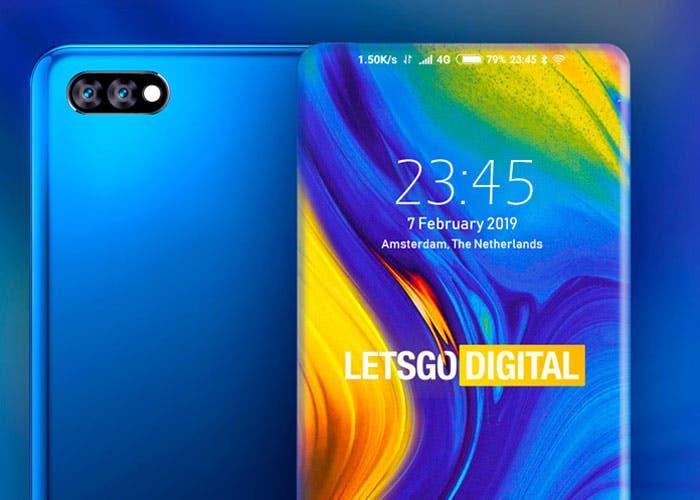 Xiaomi patenta un móvil todo pantalla con los bordes redondeados