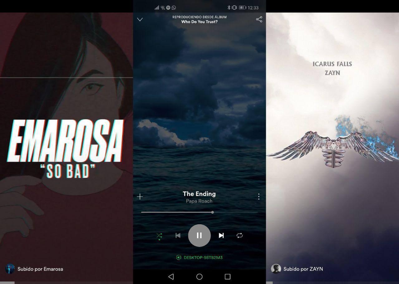 Spotify carátulas animadas