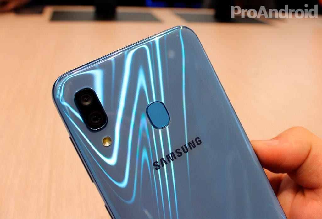Lector de huellas Samsung Galaxy A30
