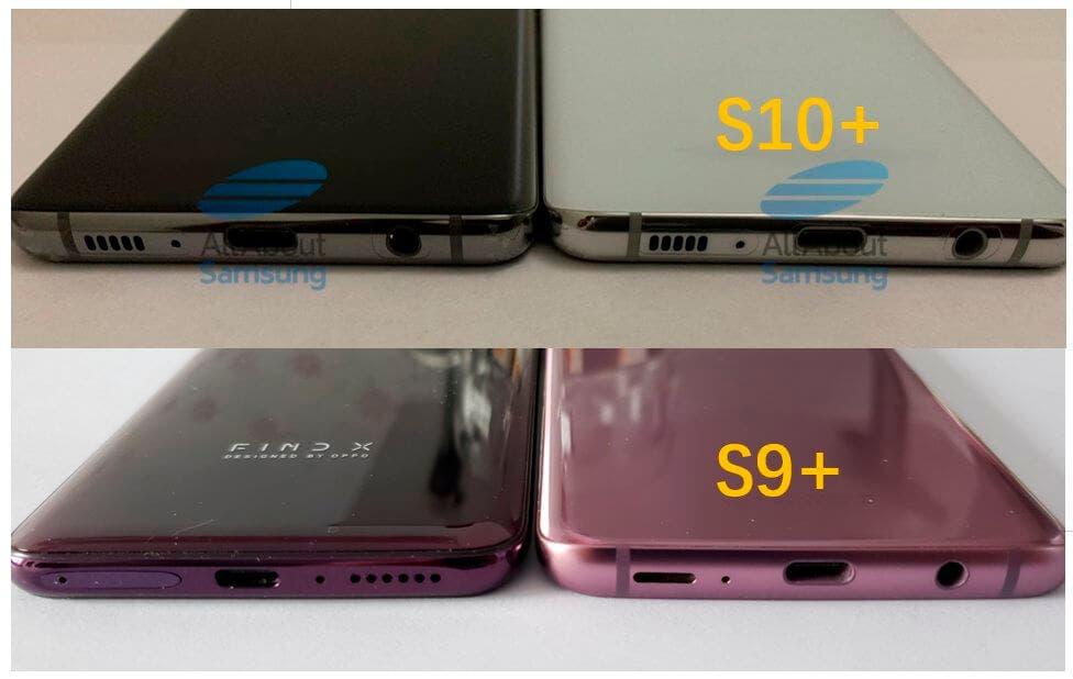 Samsung Galaxy S10+ grosor