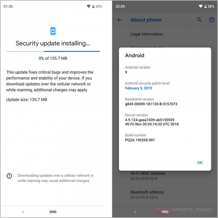 Google Pixel 3 Update