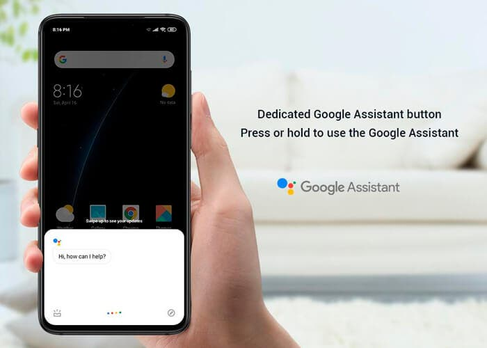 El Xiaomi Mi 9 tendrá un botón dedicado para Google Assistant