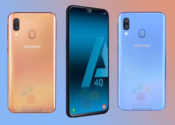 El Samsung Galaxy A40 se filtra por completo: características y precios