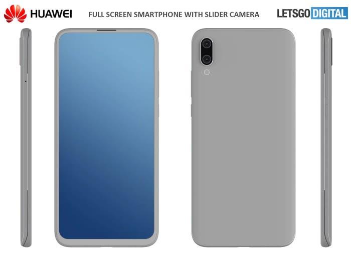 Huawei también quiere teléfonos deslizables: esta es su idea de móvil con cámara emergente