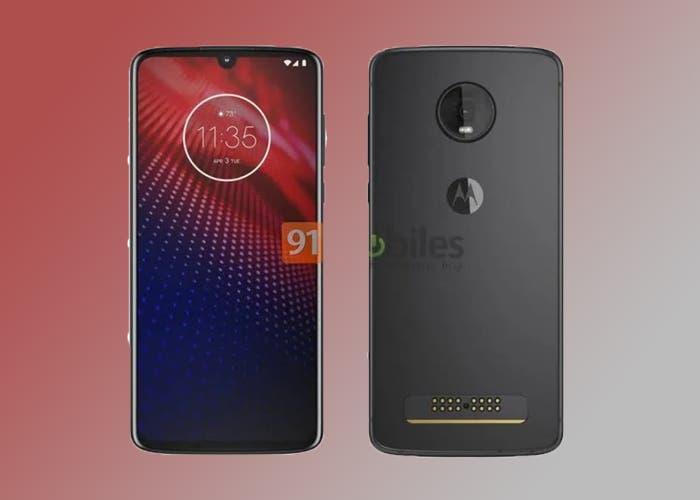 Motorola Moto Z4: los primeros renders muestran una única cámara trasera