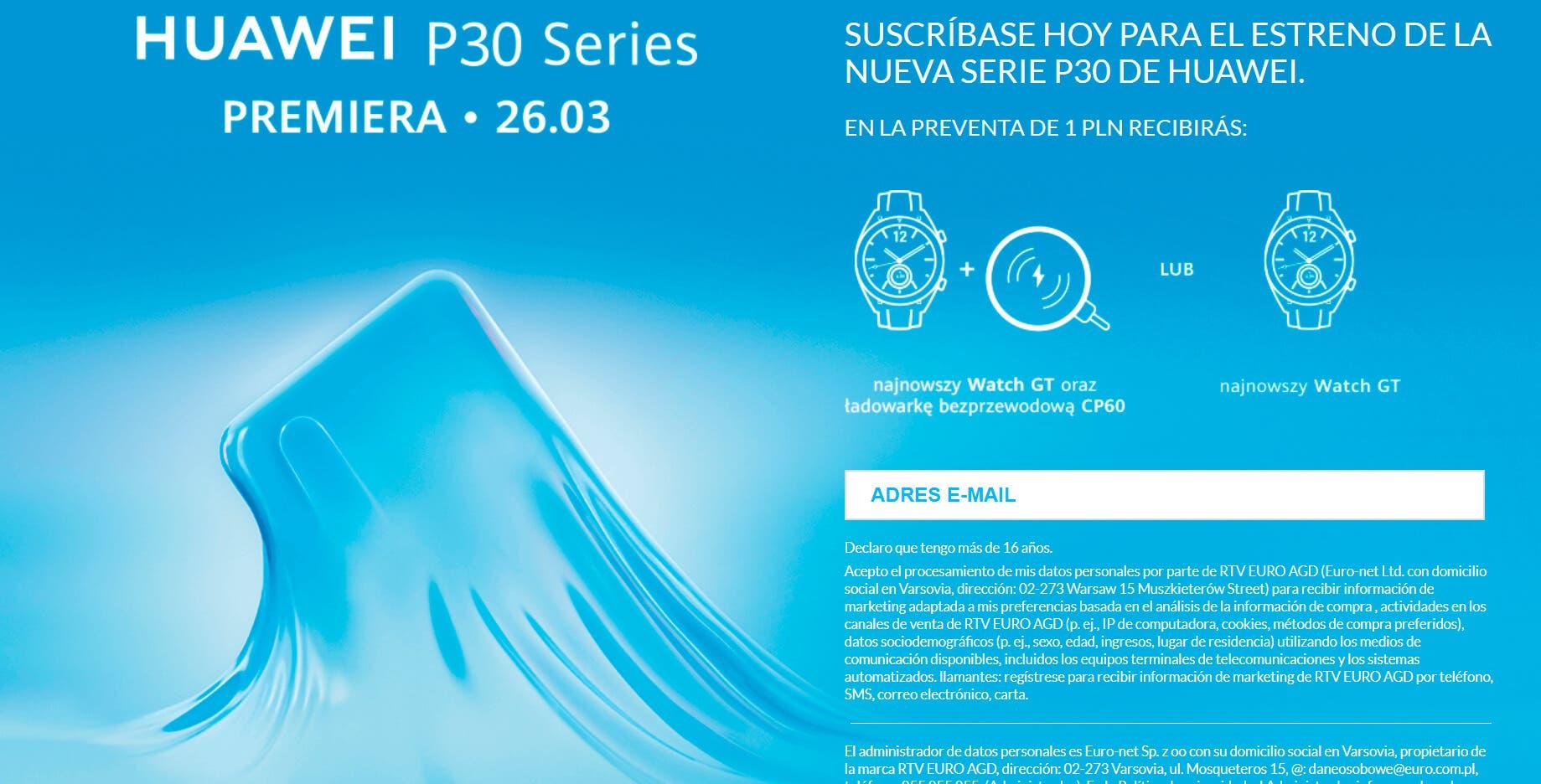 Huawei P30 reserva