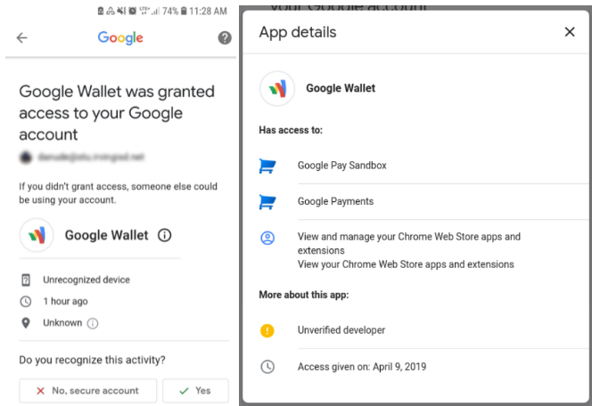 Cuidado! Un falso Google Wallet quiere acceder a las cuentas de Google