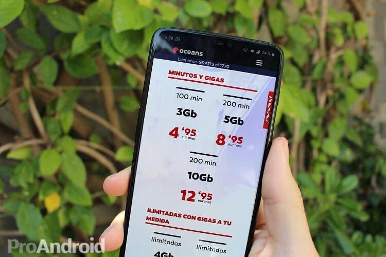 Ahorra con las tarifas móviles de Oceans