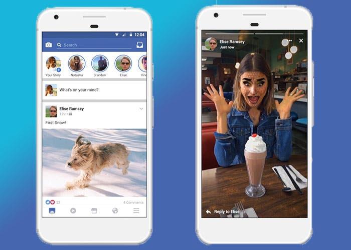 Facebook planea introducir noticias en sus Stories